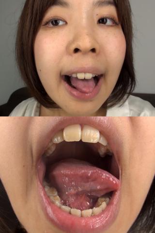 素人娘ゆうこちゃんの舌・口内自撮り(通常版+3D)