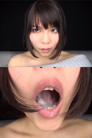 【口内自撮り】私の淫乱なおクチ見てェ 桃井桃ヘンタイ口内ちゃん