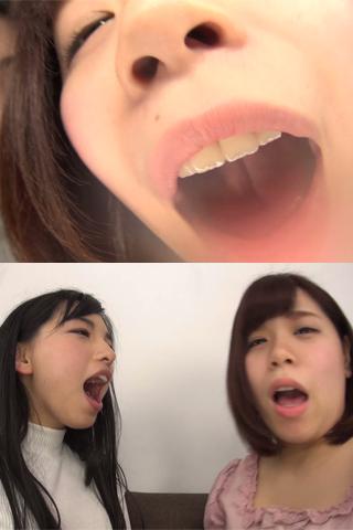 【口臭】女の子同士の、激しい口臭の嗅がせ合い!くっさいお口同士の鼻舐めで感じちゃう 白鳥すず・明音ひかる