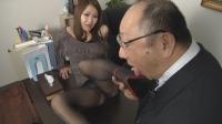 フェチ:若妻のパンストパンプスにぶっかけ