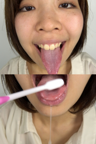 素人娘ゆうこちゃんのベロ観察・ベロ唾液フェチズム(通常版+3D)