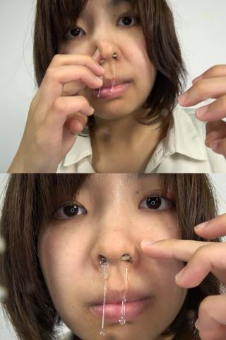 素人娘ゆうこちゃんの鼻観察・くしゃみ鼻水(通常版+3D)