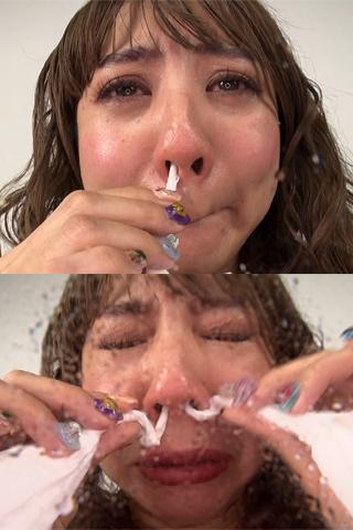 本物素人ルミさんの鼻観察・くしゃみ鼻水