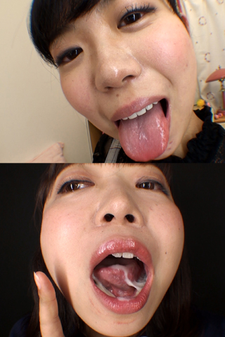 舌・口内自撮り 2本セット ななこ&結花