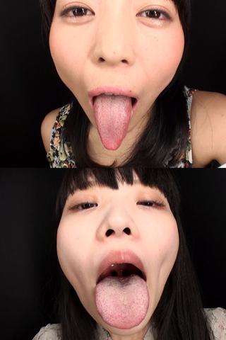 舌・口内自撮り 2本セット あみ&想葉