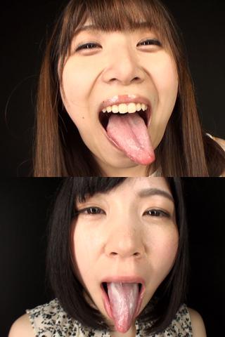 舌・口内自撮り 2本セット 涼&あい