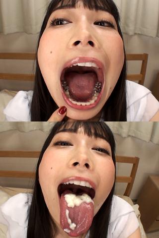 舌・口内自撮り 2本セット 由美香&さくら