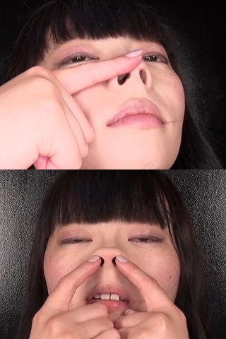 聖星姫花の透明ロング鼻水