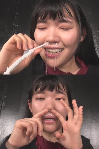 粘り気高めの鼻水!!鼻・鼻水観察 高槻美花