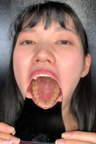 唾液垂れ流し!!天然歯観察 高槻美花