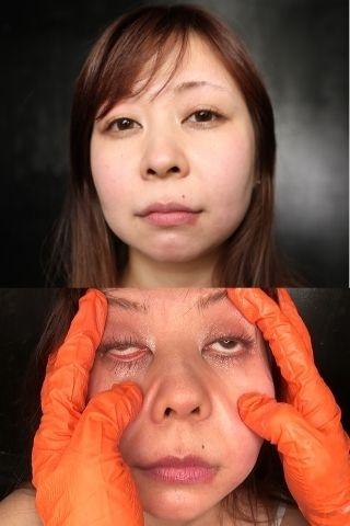 【超顔面変形2人セット】顔面変形みはと×チャーシュー顔面崩壊千夏