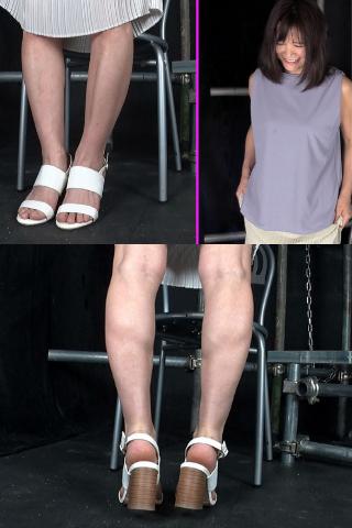【美熟女限定】ロングスカートの下の美脚&恥ずかしい足の裏をじっくり観察させてください!!
