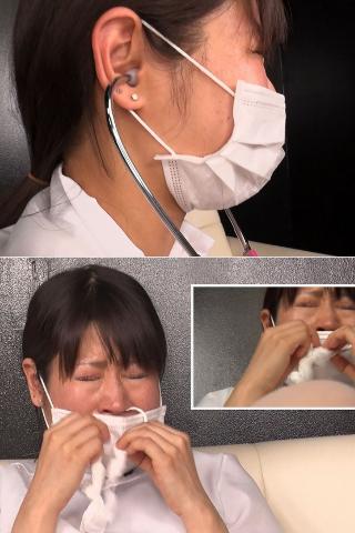 【ガチンコ本物ナース】渦中の現場で働くマスク美人は禁断の飛沫症状(クシャミ)を回避できるのか?!