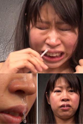 【激射】鼻腔に突如噴射スプレーを狙い撃ちしたら素人ナースは一体どんな反応をするのか?!からの鼻水もあり〼