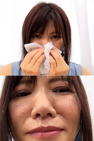 【主婦歴20年!!】ご近所にいそうな美熟女のマスクに超長くて粘度質な鼻水が付着した瞬間?!