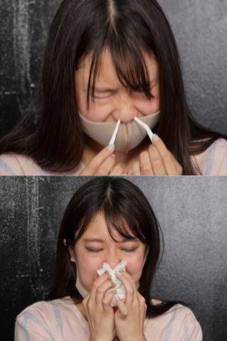 【クシャミ飛沫回数約50発!!!!!】マスク美人保育士、永野楓果ちゃんは鼻腔粘膜が敏感なクシャミっ娘ちゃんですたー!!!