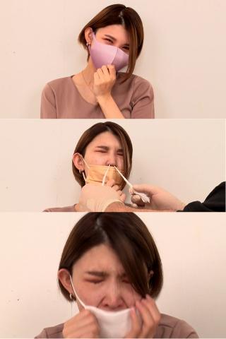 【Hな雰囲気マスク美人保険外交員】♥mayumu♥(24)Coolな眼差しの先にはフィットマスクへの飛沫後の鼻水と泪