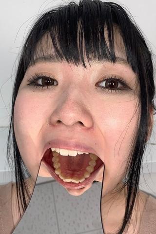 21年間虫歯ゼロ!!「元の歯黄色いと虫歯になりにくいです。」と豪語する涼花くるみ(21)の口内